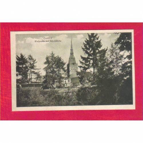 AK - Alte Ansichtskarte - Wallpartie mit Jakobikirche - ca. 1925
