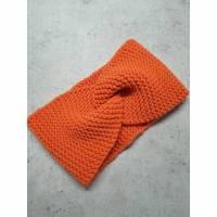 Twist-Stirnband, gestrickt, orange Bild 1