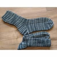 Stricksocken für Herren, gestrickte Männersocken, Wollsocken, Gr.43 Bild 1