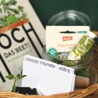 Geschenk-Box für Hobby-GärtnerInnen, Geschenkanhänger zum Ausdrucken Bild 1