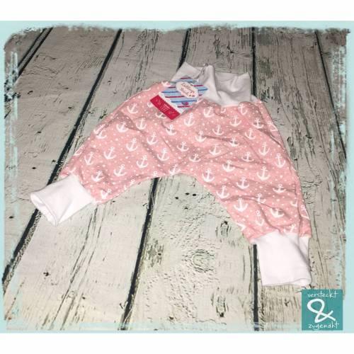 """Checkerhose """"Anker rosa"""", Größe 68"""