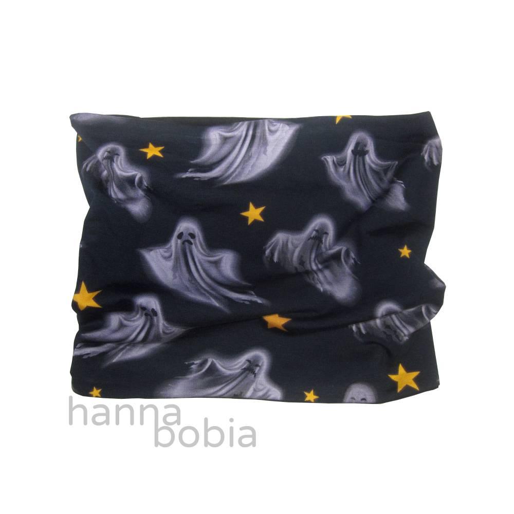 Schlauchschal für Kinder mit Geistern auf schwarz Bild 1