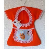 Klammerkleid, Wäscheklammerbeutel, Klammerkleidchen, Eulen- Schürzchen Bild 1