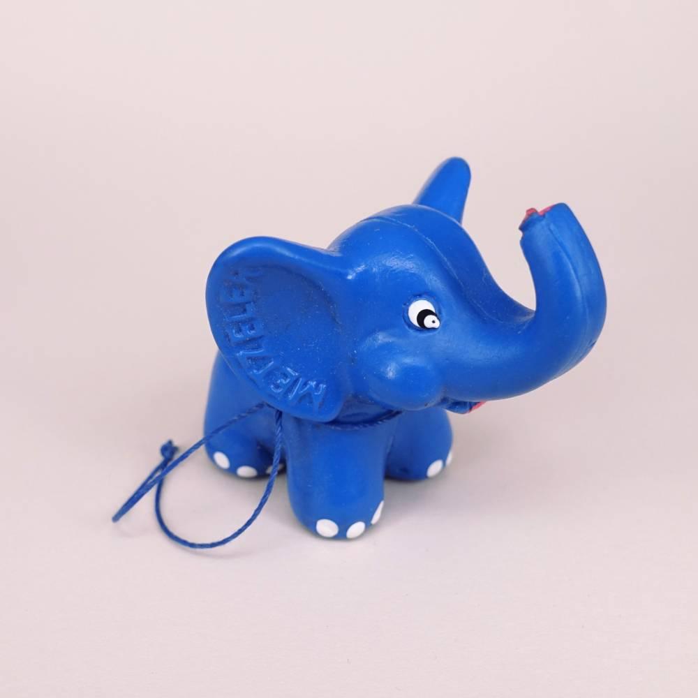 Kleiner blauer Metzeler Werbe-Elefant Bild 1