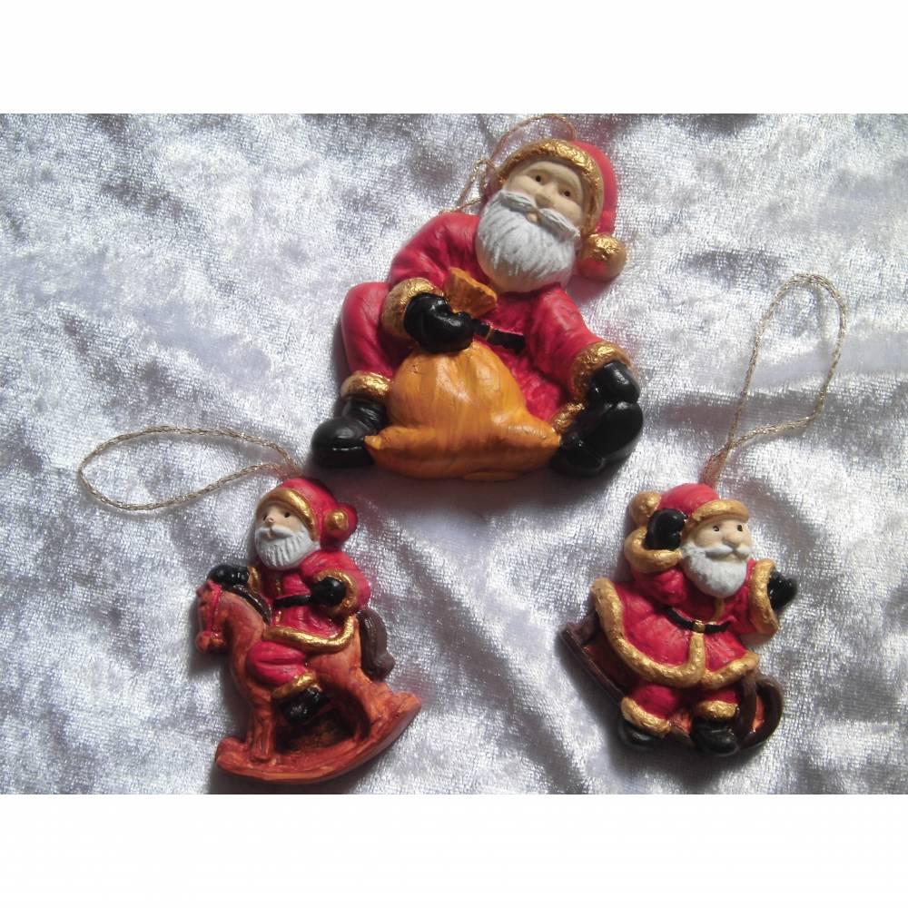 Baumschmuck , Weinachtsmänner Christbaumschmuck, Weihnachstdeko, Weihnachten,Adventsdeko, Geschenkanhänger Bild 1