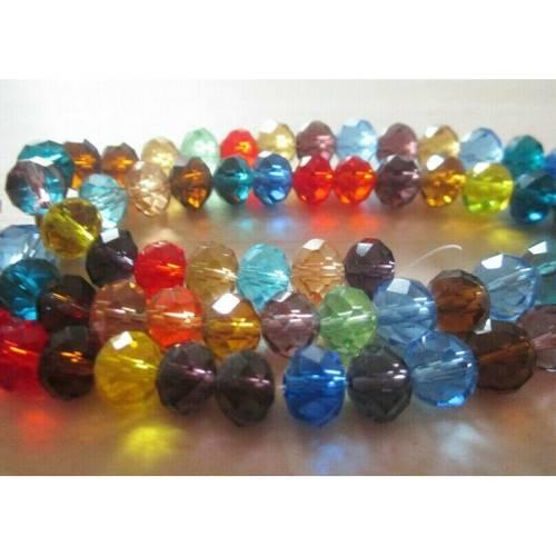 40 Glasschliffperlen rund 4mm schwarz matt Beads 11116