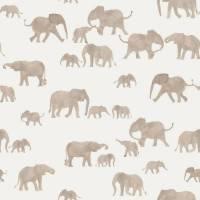 ab 50cm Jersey Elefanten Watercolor   - Elephants Aquarell Druckstoff Bild 1