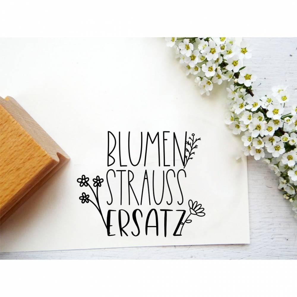 """Stempel """"Blumenstraussersatz"""" für Mitbringsel, Geschenke, Geschenkanhänger, Etiketten oder Dankeschön Bild 1"""