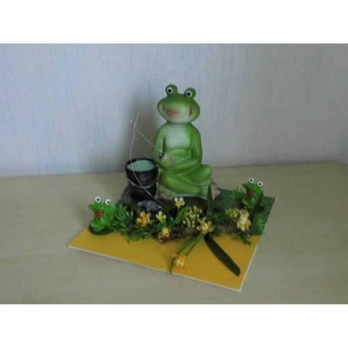 Geldgeschenk - Ein Frosch mit Angel Kröten für den Angler Angeln - Geschenkidee