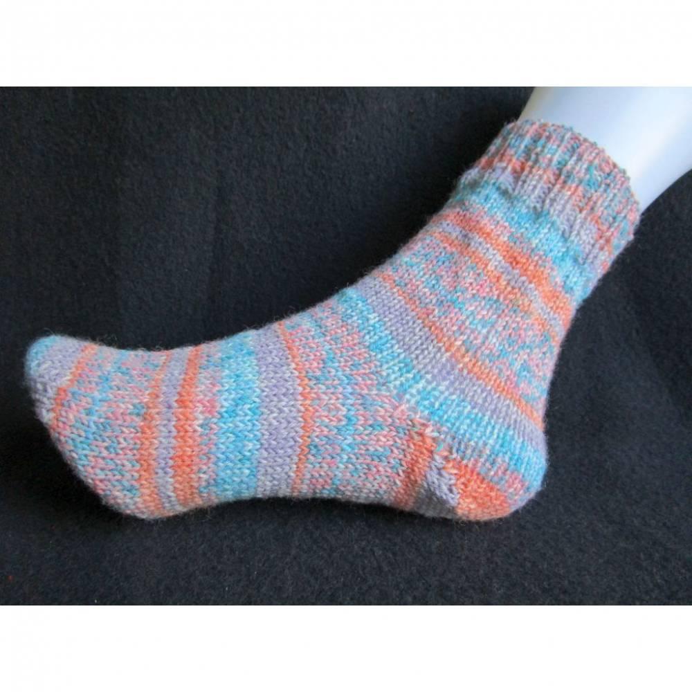 Bunte geringelte Socken Gr. 38/39 Bild 1