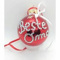 Weihnachtskugeln aus Glas mit Namen aus Strasssteinen (personalisiert) Bild 1