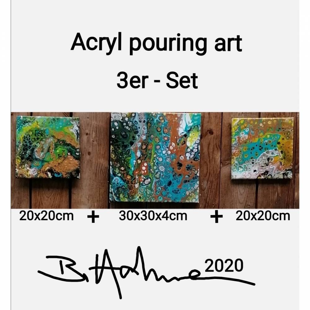 Acryl pouring art 3er Serie Bild 1
