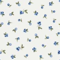 ab 50cm Jersey Blaubeeren Watercolor   - Heidelbeeren Aquarell Druckstoff Bild 1