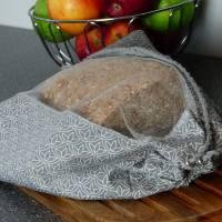 Brotbeutel, Einkaufsbeutel, großer Obstbeutel Grau