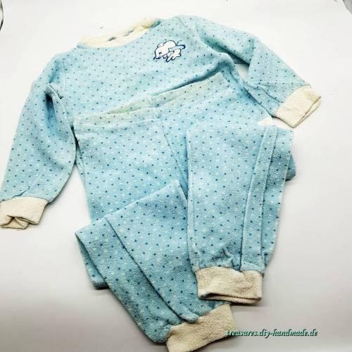 Vintage, 2tlg Kinder Schlafanzug, Marke Schiesser, Tausendsassa Größe 104