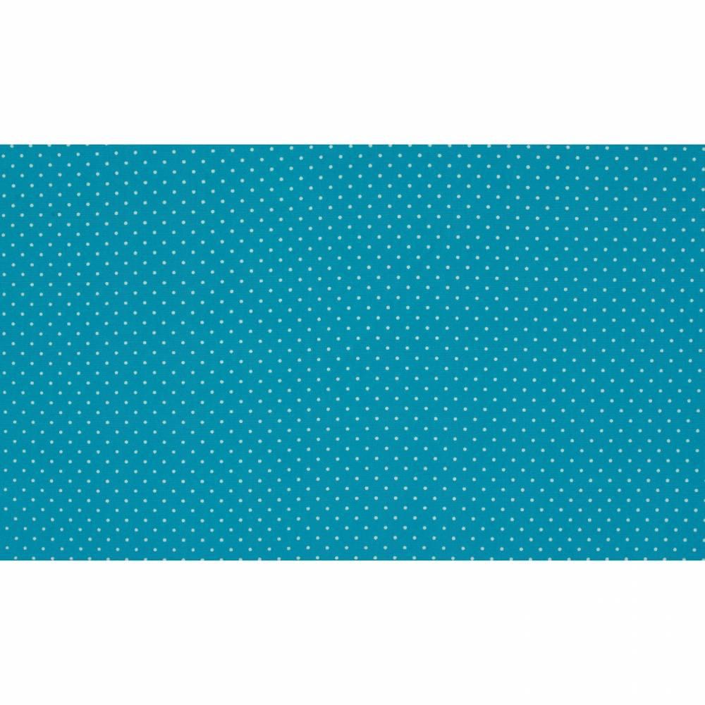 7,50EUR/m Baumwoll-Webware small dots in aqua Punkte Bild 1