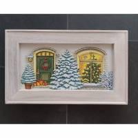 Bild mit Rahmen Weihnachten Haus Tanne Bild 1