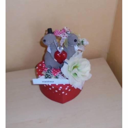 Geldgeschenk Hochzeit Brautpaar Geschenk Mäuse Geschenkbox Verpackung