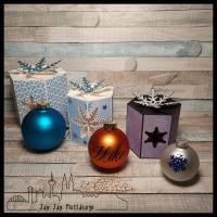 Plotterdatei Schneeflocken-Box für Christbaumkugeln und mehr 3er Set Bild 1