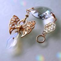 Engel Sonnenfänger mit Opalith und Regenbogen Kristall Bild 1