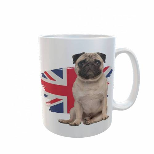 Tasse Mops England Flagge