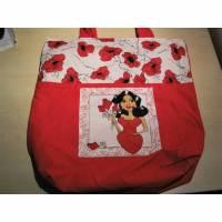 Tasche Beutel Loralie Harris Motiv - in rot mit Mohnblumen Stofftasche der Umwelt zuliebe Bild 1