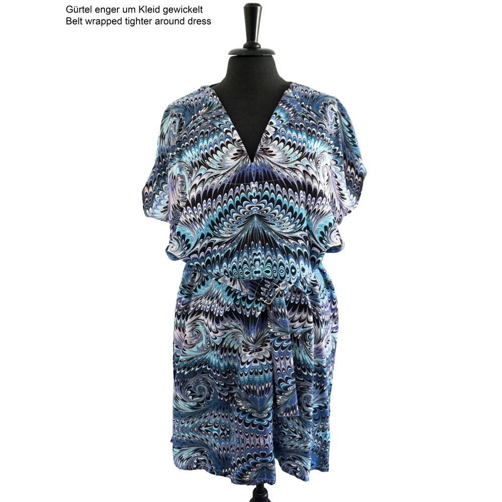ART-DÉCO Kleid, Tunika mit Gürtel, marmoriert, Art Nouveau, Jugendstil Bild 1
