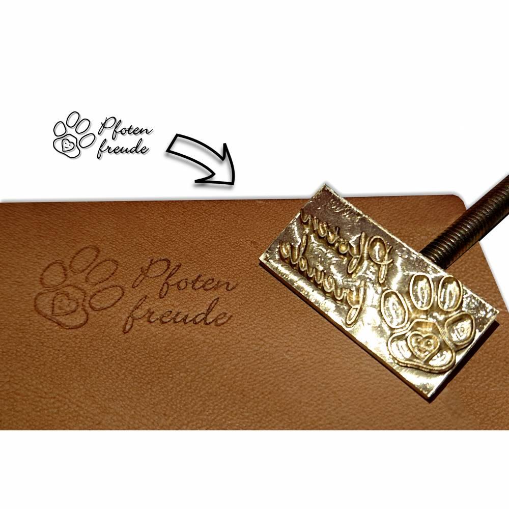 Punzierstempel individuell, Lederprägestempel mit Logo, Prägestempel für Leder punzieren und Brennstempel für Biothane Bild 1
