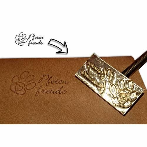 Punzierstempel individuell, Lederprägestempel mit Logo, Prägestempel für Leder punzieren und Brennstempel für Biothane