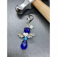 Perlenengel Schlüsselanhänger Perlen-Engel Charm Blau V Bild 1