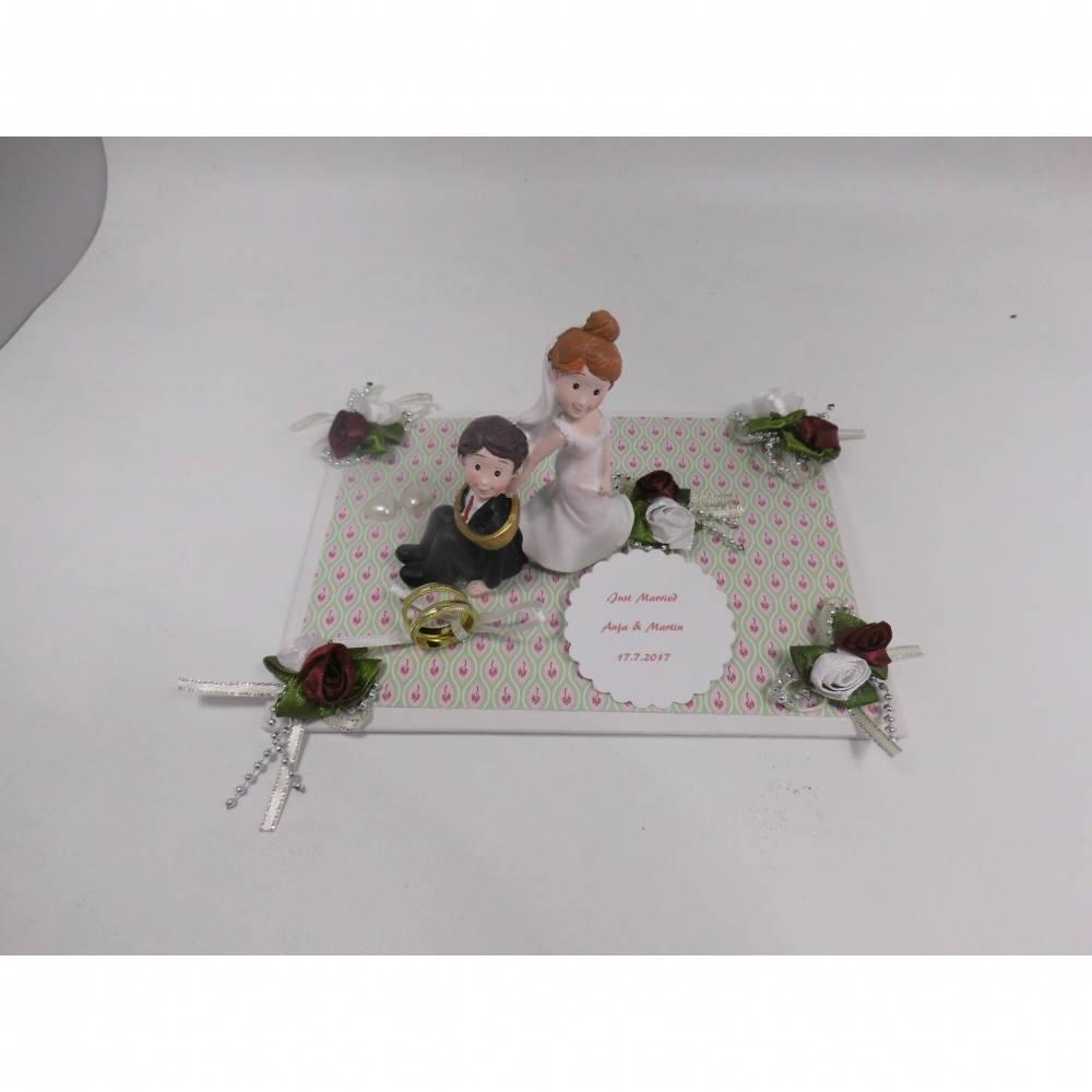 Geldgeschenk Hochzeit Brautpaar abgeschleppt- Tischdeko -  Geschenkidee Bild 1