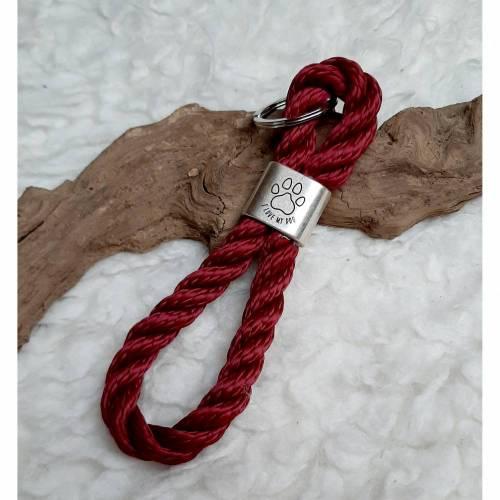 Schlüsselanhänger aus Segeltau-I love my dog