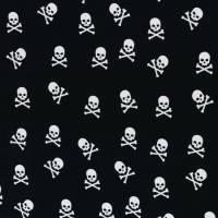 Jersey Baumwolljersey Theo Totenkopf Skull  schwarz-weiß Oeko-Tex Standard 100(1m/15,-€) Bild 1