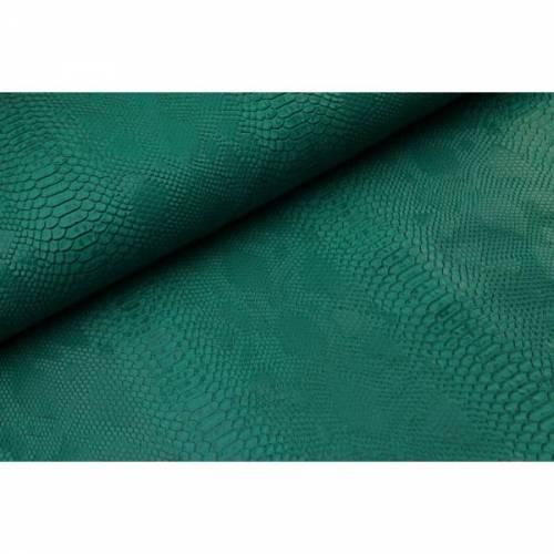 0,1m Kunstleder Schlange smaragd