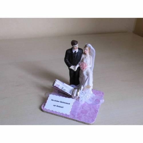Hochzeitsgeschenk Geldgeschenk zur Hochzeit - rosa - Geschenkidee