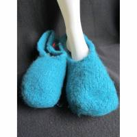 gefilzte Hausschuhe 100 % Schurwolle in Gr. 43  Bild 1