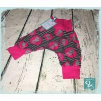 """Checkerhose """"Nilpferd pink"""", Größe 62 Bild 1"""