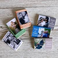 Gastgeschenk Silberhochzeit Goldene Hochzeit | Schokolade Schokotafel Vollmilch 7,5g | personalisiert Bild 1