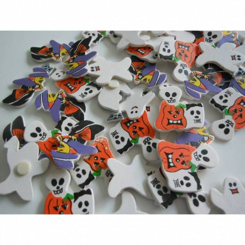 SET Halloween  Streuteile gemischt  70  Stück