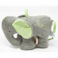 Spieluhr Elefant mit Name und Schurwollfüllung, maschinenwaschbar Bild 1