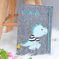 U-Heft-Hülle, U-Heft, Untersuchungsheft, Filzhülle, Geburt, Geschenk Bild 1