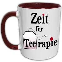 Therapie Tasse, Tee Spruch Zeit für Therapie, Therapeutin Geschenk, Therapieende Abschied, beste Freundin Geschenk, Therapie Weihnachtsgeschenk, Teetasse Bild 1