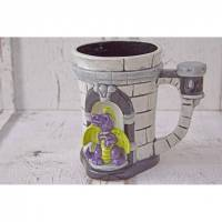 Tasse,Drachenburg,300ml, Keramik, handbemalt, personalisierbar Bild 1