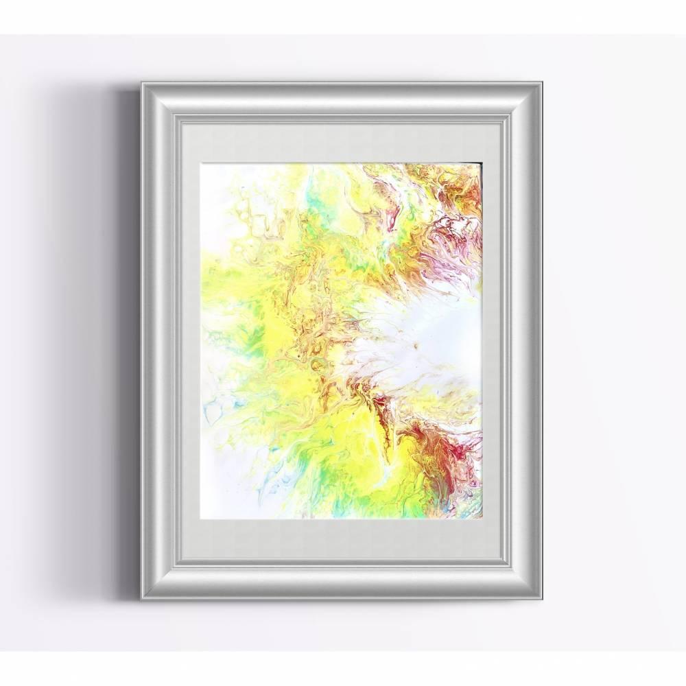 Acrylbild 240x300mm abstrakt  Bild 1