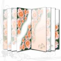 DIY Grafik-Set Digitales Papier Motiv *Hochzeit 001*, für Innenseiten (Signaturen) für Junk-Journals, von Alanja Bild 1