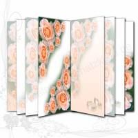 DIY Grafik-Set Digitales Papier für Innenseiten (Signaturen) für Junk-Journals, Motiv *Hochzeit 001*, entworfen von Alanja