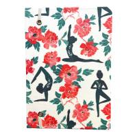 """Notizbuch """"Namaste/White"""" Hardcover stoffbezogen A5 Yoga Yogafan Yogini Geschenk Geschenkidee Fanartikel Bild 3"""