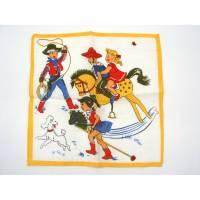 Vintage Taschentuch Kinder Stofftuch Cowboy  Bild 1