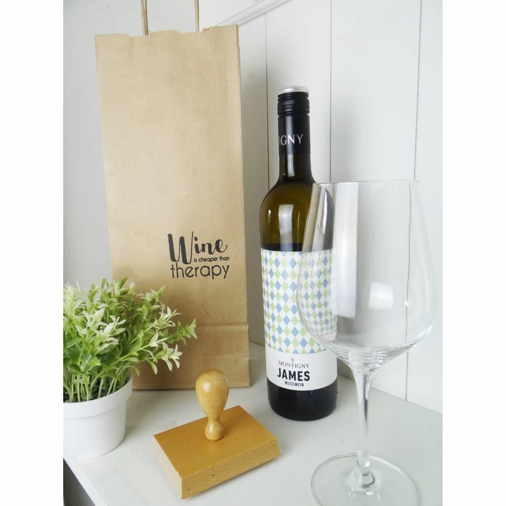 SET Stempel Weingeschenk, Weinpräsent, Weinverpackung, Geschenk, Geschenkverpackung, Mitbringsel,  Bild 1