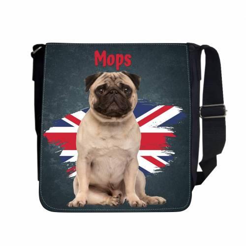 Umhängetasche Tasche Hund Mops